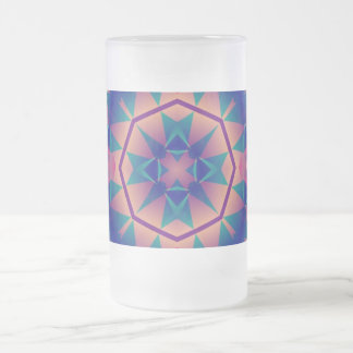 Flower frosted glass mug