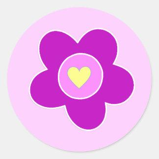 Flower Fun Classic Round Sticker