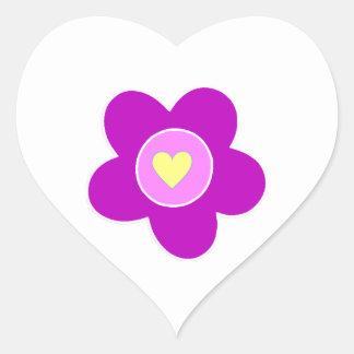 Flower Fun Heart Sticker