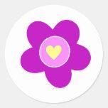 Flower Fun Round Stickers