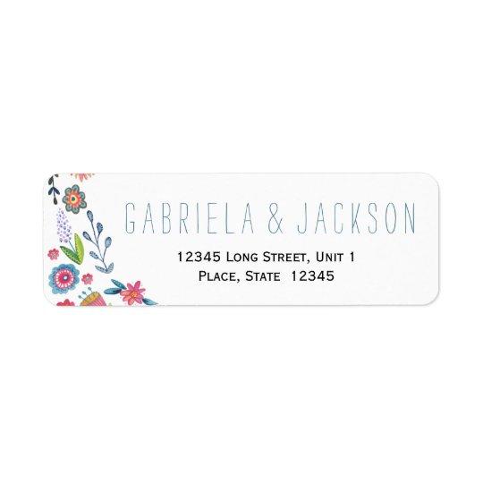 flower fun wedding return address labels zazzle com