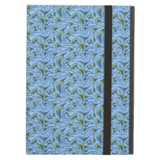 FLOWER FUNNEL BLUE GREEN Powis iCase iPad Air Case