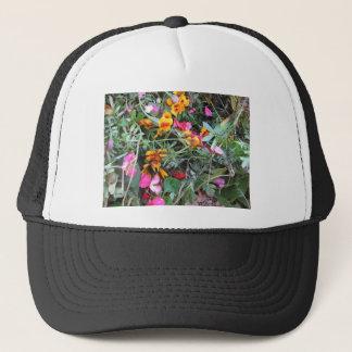 flower garbage trucker hat