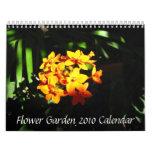 Flower Garden 2010 Calendar
