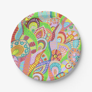 Flower Garden 4 Paper Plate