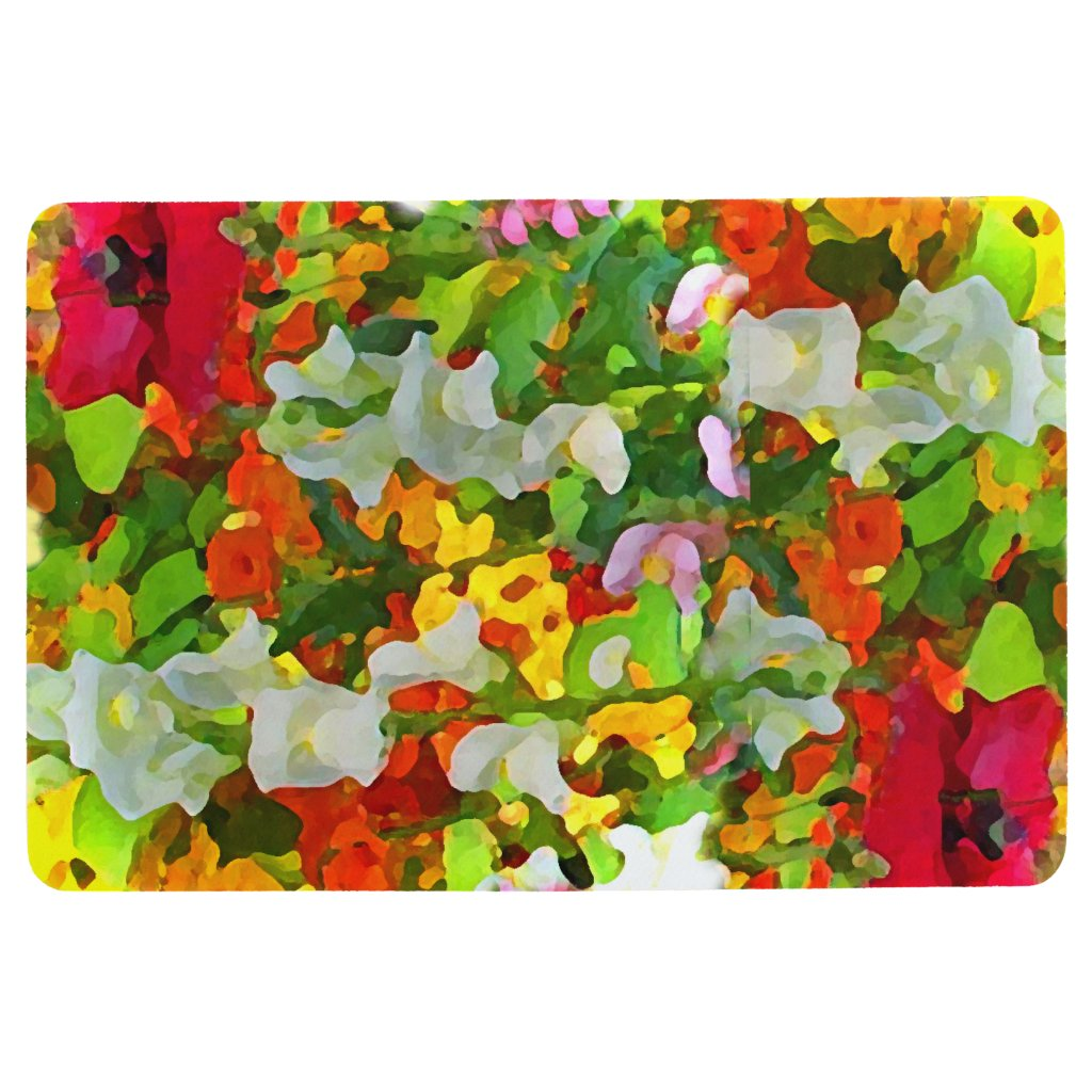 Flower Garden Abstract Floral Floor Mat