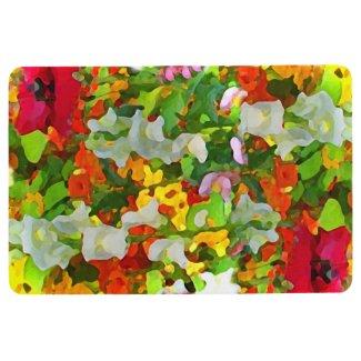 Flower Garden Abstract Floral Floor Mat