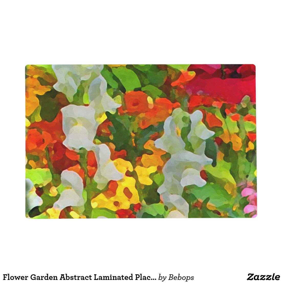 Flower Garden Abstract Laminated Placemat