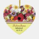 Flower Garden Adoption Announcement Christmas Tree Ornament