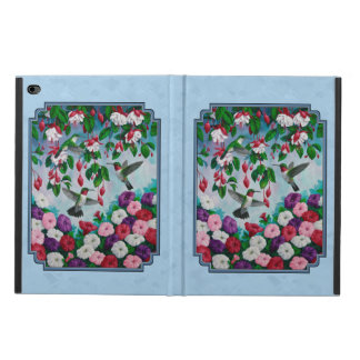 Flower Garden and Hummingbirds Blue Powis iPad Air 2 Case