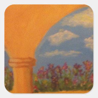 Flower Garden Arches Square Sticker