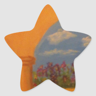 Flower Garden Arches Star Sticker