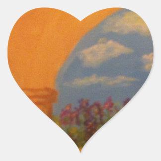 Flower Garden Arches Heart Sticker