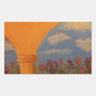 Flower Garden Arches Rectangular Sticker