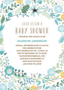 Flower garden baby shower invitations announcements zazzle flower garden baby shower invitation filmwisefo Images