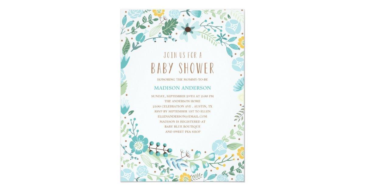 flower garden baby shower invitation zazzle