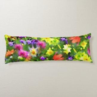 Flower Garden Body Pillow
