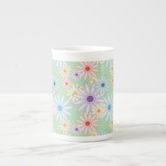 Flower Garden bone china cup