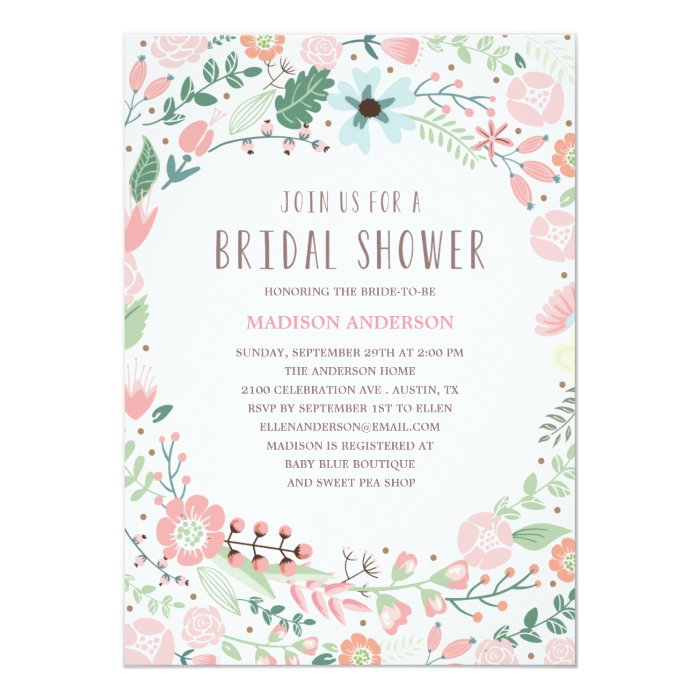 flower garden | bridal shower invitation | zazzle, Baby shower invitations