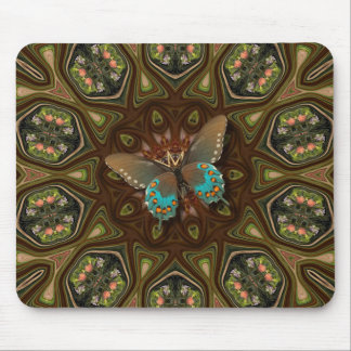 Flower Garden Butterfly. Mouse Pad