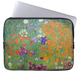 Flower Garden by Gustav Klimt Computer Sleeve