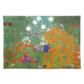 Flower Garden by Gustav Klimt Vintage Floral Cloth Placemat
