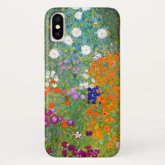 Flower Garden by Gustav Klimt Vintage Floral iPhone X Case