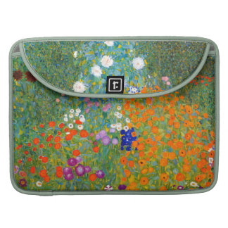 Flower Garden by Gustav Klimt Vintage Floral Sleeve For MacBooks