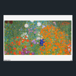 """Flower Garden by Gustav Klimt Wall Decal<br><div class=""""desc"""">Beautiful colorful painting of a flower garden by Gustav Klimt. Amazing variations of colors and beautiful flowers fit just beautiful on many sorts of wonderful products and gift ideas.</div>"""