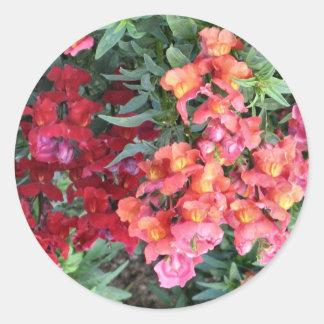 flower garden classic round sticker