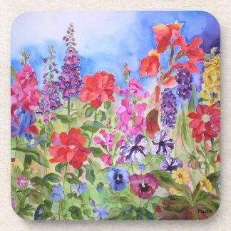 Flower garden coasters