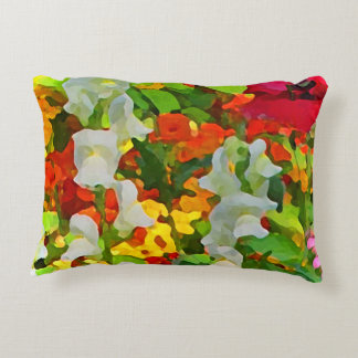 Flower Garden Colors Accent Pillow