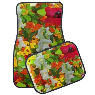 Flower Garden Colors Car Mat