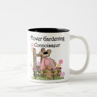 Flower Garden Connoisseur Two-Tone Coffee Mug