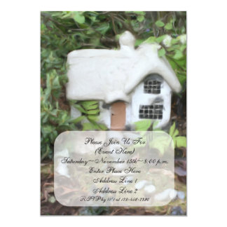 "Flower Garden Cottage Painting Invitation 5"" X 7"" Invitation Card"