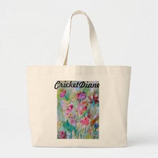 Flower Garden CricketDiane Designer Series Canvas Bag
