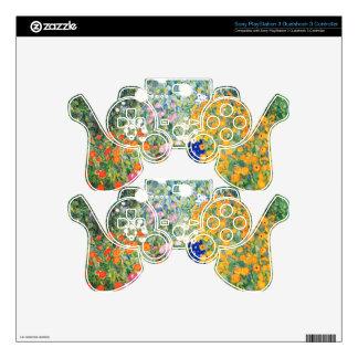Flower Garden cute PS3 Controller Decal