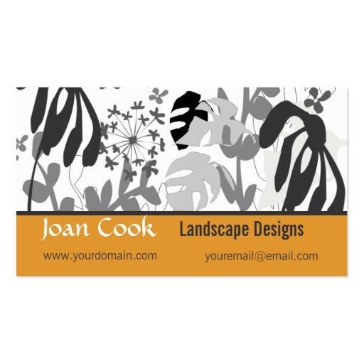 Flower garden design double sided standard business cards for Garden design business
