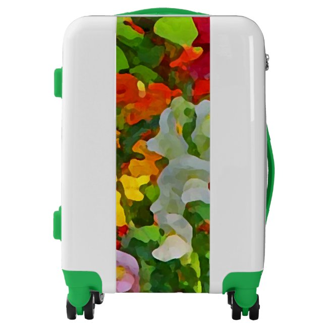 Flower Garden Floral Abstract Design Luggage
