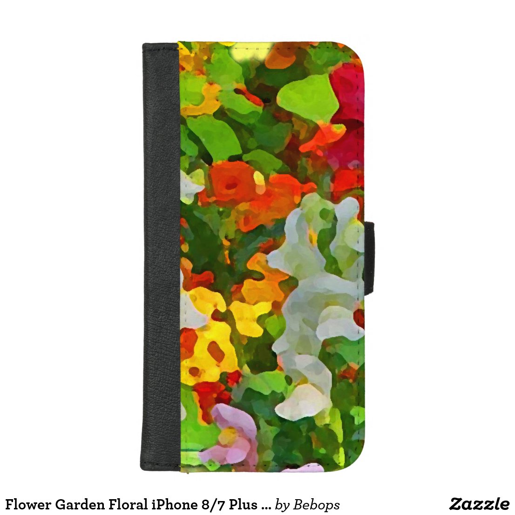 Flower Garden Floral iPhone 8/7 Plus Wallet Case