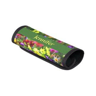 Flower Garden Floral Luggage Handle Wrap