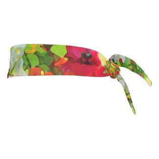Flower Garden Floral Tie Headband