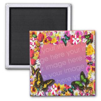 Flower Garden Frame Refrigerator Magnets