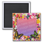 Flower Garden Frame Refrigerator Magnets