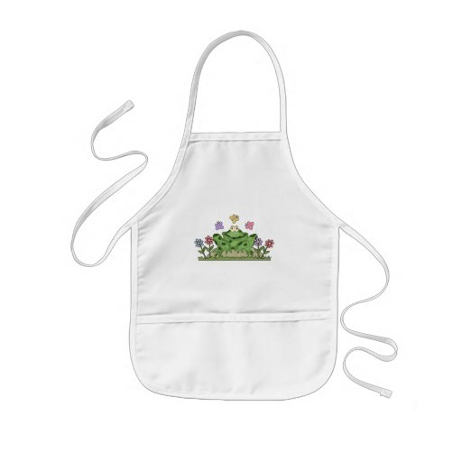 Flower Garden Frog T-shirts and Gifts Kids' Apron