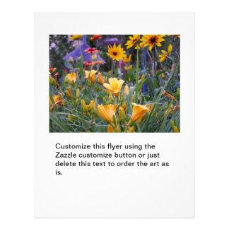 Flower garden fun colorful pretty gardening photo flyer