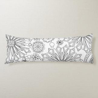 """Flower Garden Galaxy Body Pillow 20"""" x 54"""""""