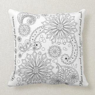 Flower Garden Galaxy Throw Pillow 20 x 20