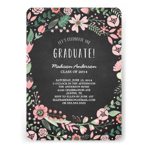 Flower Garden | Graduation Party Invitation