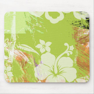 FLOWER GARDEN GREEN MOUSE PAD